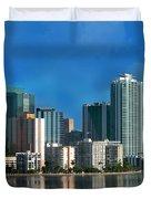 Brickell Skyline 2 Duvet Cover by Bibi Romer