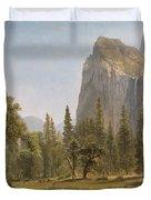 Bridal Veil Falls Yosemite Valley California Duvet Cover by Albert Bierstadt