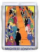 Brightest London Is Best Reached By Underground Duvet Cover by Horace Taylor