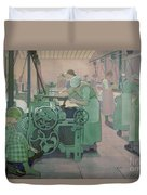 British Industries - Cotton Duvet Cover by Frederick Cayley Robinson