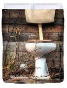Broken Toilet Duvet Cover by Carlos Caetano