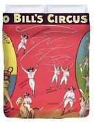 Bronco Bills Circus Duvet Cover by English School