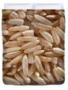 Brown Rice In Bowl Duvet Cover by Steve Gadomski
