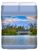 Brownsville Covered Bridge Duvet Cover by Jack R Perry