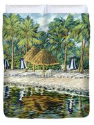 Buccaneer Island Duvet Cover by Danielle  Perry
