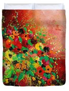 Bunch Of Flowers 0507 Duvet Cover by Pol Ledent