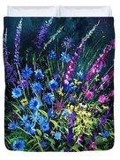 Bunch Of Wild Flowers Duvet Cover by Pol Ledent