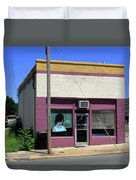 Burlington North Carolina - Small Town Business Duvet Cover by Frank Romeo