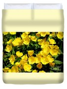Buttercup Flowers Duvet Cover by Corey Ford