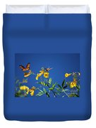 Butterfly In The Sonoran Desert Musuem Duvet Cover by Donna Greene
