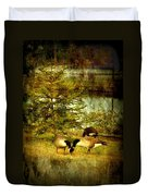 By The Little Tree - Lake Carasaljo Duvet Cover by Angie Tirado