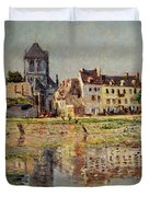 By the River at Vernon Duvet Cover by Claude Monet