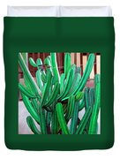 Cactus Fly By Duvet Cover by Snake Jagger