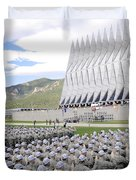 Cadets Recite The Oath Of Allegiance Duvet Cover by Stocktrek Images