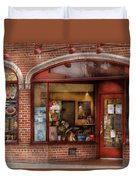 Cafe - Westfield Nj - Tutti Baci Cafe Duvet Cover by Mike Savad
