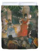 Cafe Concert At Les Ambassadeurs Duvet Cover by Edgar Degas