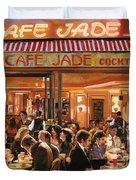 Cafe Jade Duvet Cover by Guido Borelli