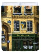 Cafe Van Gogh Paris Duvet Cover by Marilyn Dunlap