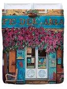 caffe del Aigare Duvet Cover by Guido Borelli