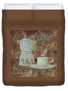 Caffe Espresso Duvet Cover by Guido Borelli