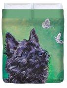 Cairn Terrier Duvet Cover by Lee Ann Shepard