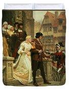 Call To Arms Duvet Cover by Edmund Blair Leighton