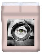 Camera Face Duvet Cover by Semmick Photo