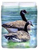 Canada Geese Duvet Cover by John D Benson