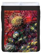 Cancer Cells Duvet Cover by Russell Kightley