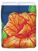 Canna Flower Duvet Cover by Adam Johnson