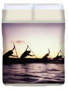 Canoe Race Duvet Cover by Bob Abraham - Printscapes