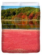 Cape Cod Cranberry Bog Duvet Cover by Matt Suess