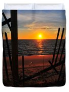 Cape Cod Sunset Duvet Cover by Catherine Reusch  Daley