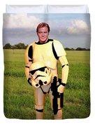 Captain James T Kirk Stormtrooper Duvet Cover by Paul Van Scott