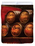 Car - Truck - Beer Truck Duvet Cover by Mike Savad