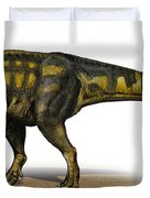 Carcharodontosaurus Iguidensis Duvet Cover by Sergey Krasovskiy