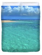 Caribbean Water Duvet Cover by Scott Mahon