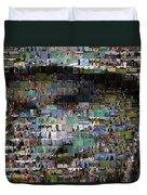 Carl Caddyshack Mosaic Duvet Cover by Paul Van Scott