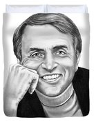 Carl Sagan Duvet Cover by Murphy Elliott