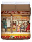 Carnival - The Candy Shack Duvet Cover by Mike Savad