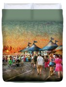 Carnival - Who Wants Gyros Duvet Cover by Mike Savad
