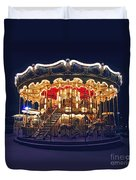 Carousel In Paris Duvet Cover by Elena Elisseeva
