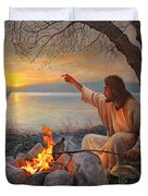 Cast Your Nets on the Right Side Duvet Cover by Greg Olsen