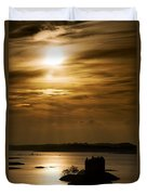 Castle Stalker At Sunset, Loch Laich Duvet Cover by John Short