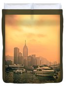 Causeway Bay At Sunset Duvet Cover by Loriental Photography