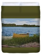 Cedar Canoe Duvet Cover by Kenneth M  Kirsch