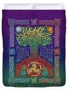 Celtic Tree Of Life Duvet Cover by Kristen Fox