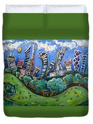 Central Park South Duvet Cover by Jason Gluskin