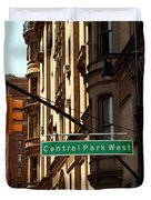 Central Park West Duvet Cover by Madeline Ellis