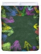 chalk drawing colorful arrows Duvet Cover by Setsiri Silapasuwanchai